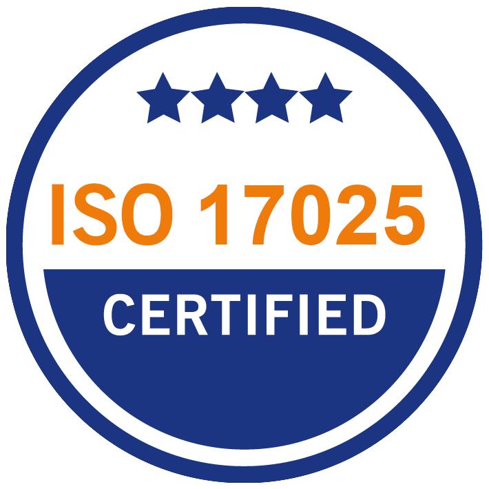 ISA 17025 certified
